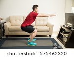 profile view of an attractive...   Shutterstock . vector #575462320