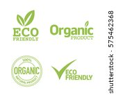 set of eco friendly and organic ...