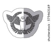 emblem eagle sign icon imge ... | Shutterstock .eps vector #575463169