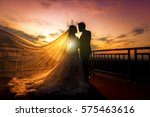 Silhouette Of Wedding Couple I...