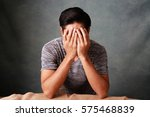 disappointed asian man | Shutterstock . vector #575468839