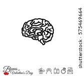 web line icon. human brain | Shutterstock .eps vector #575469664