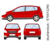 red car vector template.... | Shutterstock .eps vector #575471290