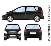 black car vector template.... | Shutterstock .eps vector #575471314