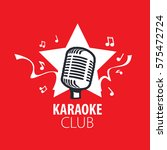 vector logo karaoke | Shutterstock .eps vector #575472724