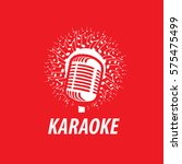 vector logo karaoke | Shutterstock .eps vector #575475499