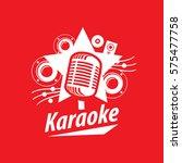 vector logo karaoke   Shutterstock .eps vector #575477758