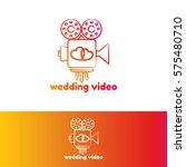 wedding video logo template | Shutterstock .eps vector #575480710