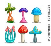 set with cartoon fantasy... | Shutterstock .eps vector #575481196
