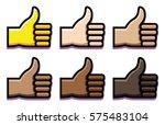 vector set of thumbs up... | Shutterstock .eps vector #575483104