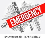 emergency word cloud collage ... | Shutterstock .eps vector #575485819