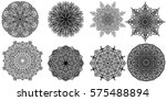 set mandala ornaments on a... | Shutterstock .eps vector #575488894