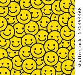 Yellow Smile Face Seamless...