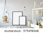 mock up posters in children... | Shutterstock . vector #575498368