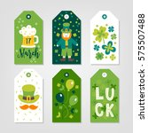set of st. patrick's day gift... | Shutterstock .eps vector #575507488