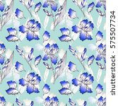 floral seamless pattern with... | Shutterstock . vector #575507734