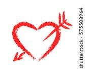 vector hand drawn chalk red... | Shutterstock .eps vector #575508964