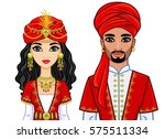 portrait of an animation arab... | Shutterstock .eps vector #575511334