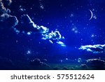 background night sky with stars ... | Shutterstock . vector #575512624