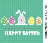 vector happy easter greeting... | Shutterstock .eps vector #575513704