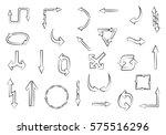hand drawn arrows.vector doodle ...   Shutterstock .eps vector #575516296