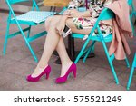 young stylish beautiful woman... | Shutterstock . vector #575521249
