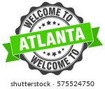atlanta. welcome to atlanta... | Shutterstock .eps vector #575524750