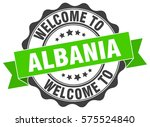 albania. welcome to albania... | Shutterstock .eps vector #575524840