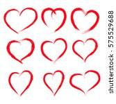 valentine's day red hearts.... | Shutterstock . vector #575529688
