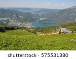 lake view and the cable car to... | Shutterstock . vector #575531380