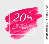 sale special offer 20  off sign ... | Shutterstock .eps vector #575534734