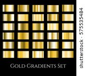 gold metal gradient set.... | Shutterstock .eps vector #575535484