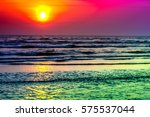 Golden  colorful  abstract sea...