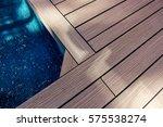 wooden floors for outdoor... | Shutterstock . vector #575538274