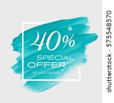 sale special offer 40  off sign ... | Shutterstock .eps vector #575548570
