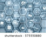 cloud computing concept as... | Shutterstock . vector #575550880