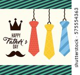happy father day card icon... | Shutterstock .eps vector #575554363
