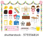 illustration set of... | Shutterstock .eps vector #575556814