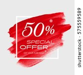 sale special offer 50  off sign ... | Shutterstock .eps vector #575559589
