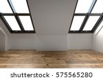 newly converted attic space... | Shutterstock . vector #575565280