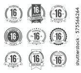 16th birthday celebration. set...   Shutterstock .eps vector #575566264