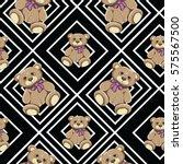 bear seamless pattern vector on ...   Shutterstock .eps vector #575567500