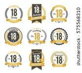 18th birthday celebration. set...   Shutterstock .eps vector #575568310