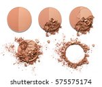 make up crushed two tone powder ... | Shutterstock . vector #575575174