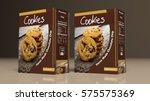 chocolate cookies paper... | Shutterstock . vector #575575369