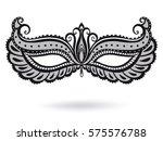 illustration with venetian... | Shutterstock .eps vector #575576788