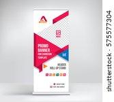 banner roll up design ... | Shutterstock .eps vector #575577304