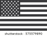 flag american black and white... | Shutterstock .eps vector #575579890