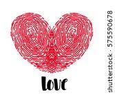 fingerprint love heart | Shutterstock .eps vector #575590678