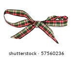 A Gift Ribbon Bow Isolated On A ...